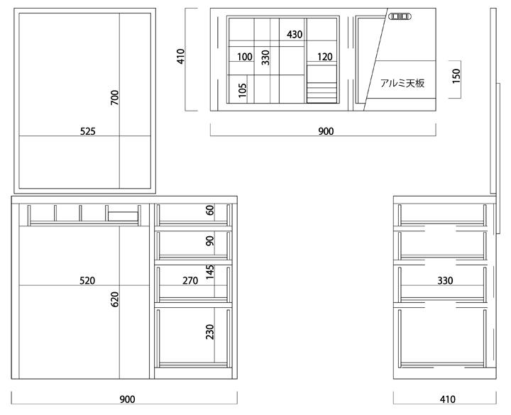 ホテルドレッサー ドレッサーチェスト リッツサイズ 関本家具