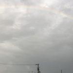 静岡の夕方の虹