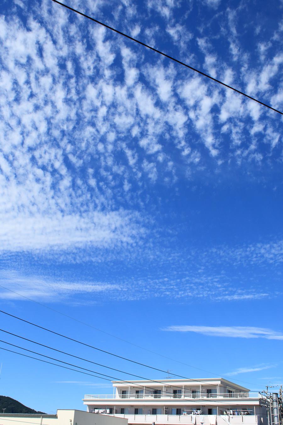 静岡市の秋空