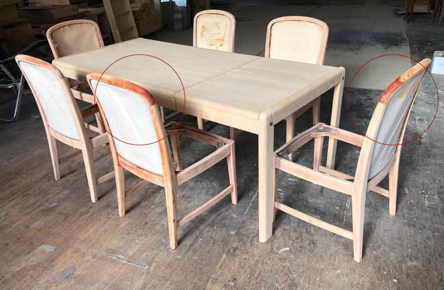 修理再塗装椅子チェア