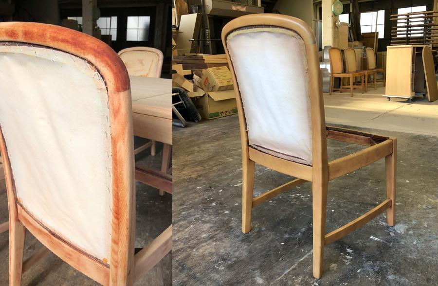 再塗装椅子チェア