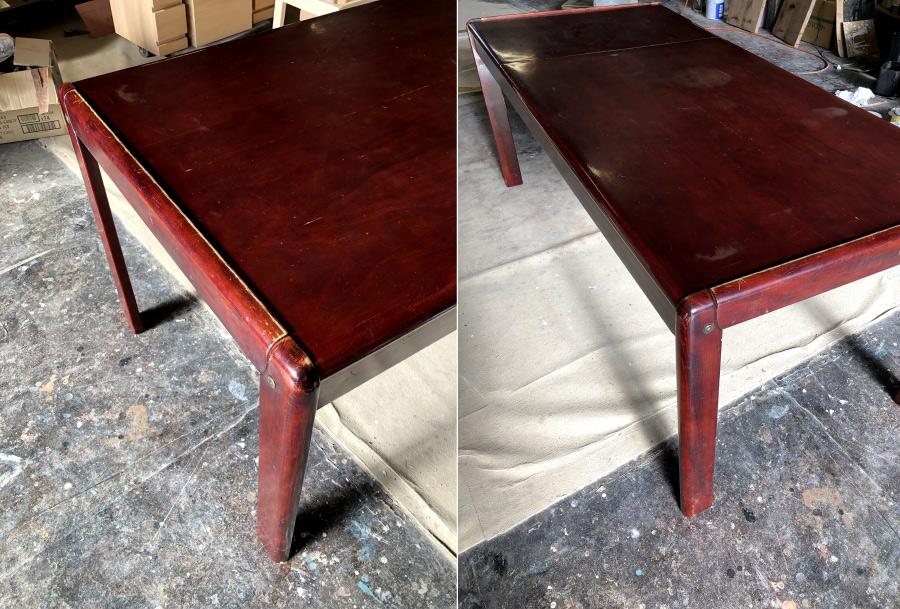 塗装剥がし再塗装リペアダイニングテーブル