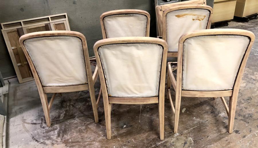 塗装剥がし再塗装ダイニングチェア椅子