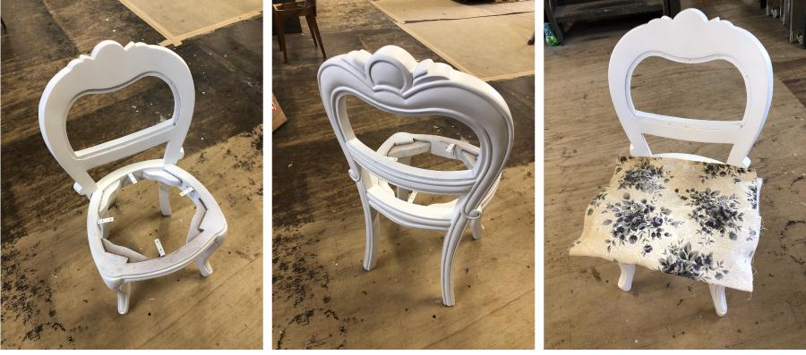 ドレッサー椅子再塗装