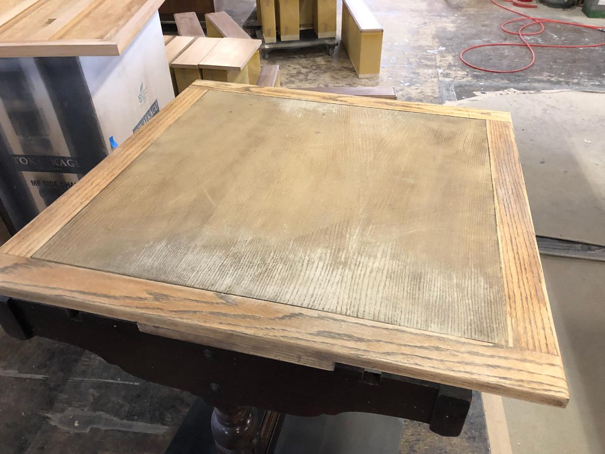 レストランテーブル再生修理リペア家具