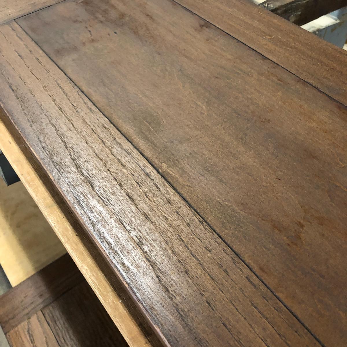 古い塗装落としテーブル再生修理リペア家具再生