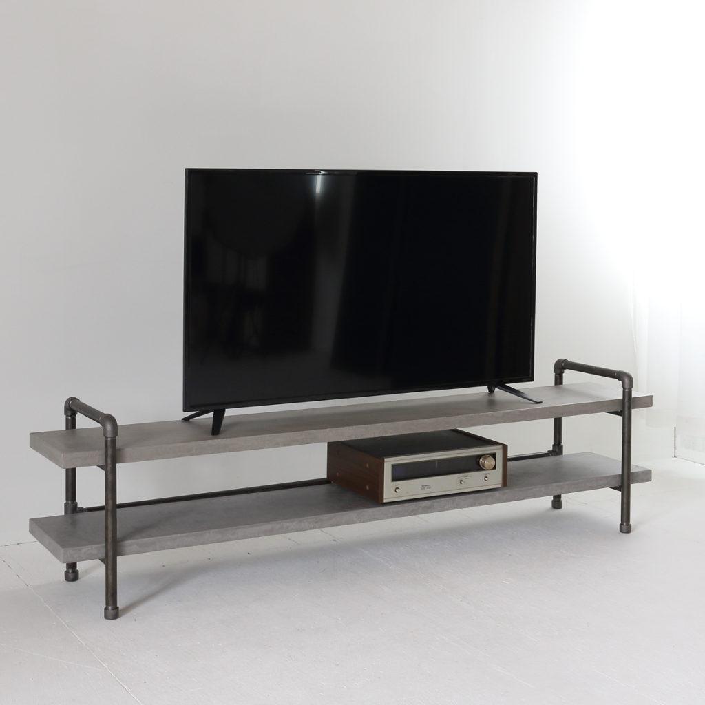 ライトグレーBM68モールテックステレビボード